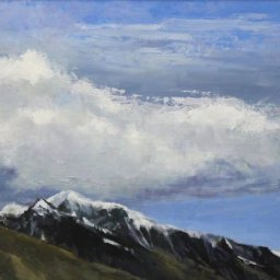 "Clouds Over the Wasatch Mountains ● 12"" x 16"" ● Oil ● $900"