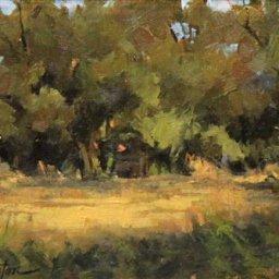"Trees at Wheeler Farm ● 6"" x 8"" ● Oil ● $295"
