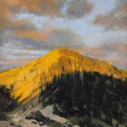 "Sunset Peak ● 9"" x 12"" ● Oil ● $700"