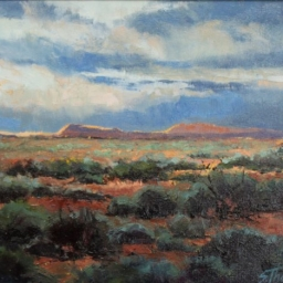 """Sunset Over the Red Rock ● 8"""" x 10"""" ● Oil ● SOLD"""