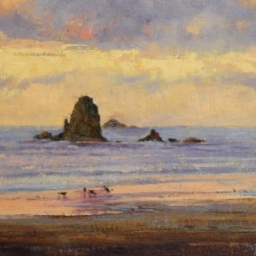 "Cannon Beach Sunset ● 9"" x 12"" ● Oil ● SOLD"