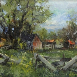 "Farm Near Spring City ● 6"" x 8"" ● Oil ● SOLD"