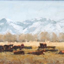 "Springville Horses ● 8"" x 10"" ● Oil ● SOLD"