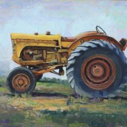 "Wheeler Farm Tractor ● 18"" x 24"" ● Oil ● SOLD"