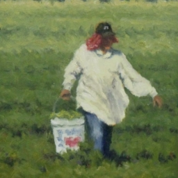 "Pepper Picker ● 7"" x 9"" ● Oil ● $850"