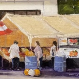 "Holladay Fruit Stand ● 9"" x 12"" ● Oil ● SOLD"