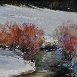 "Winter Joy ● 6"" x 8"" ● Oil ● $395"