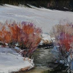 """Winter Joy ● 6"""" x 8"""" ● Oil ● SOLD"""