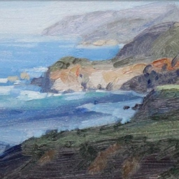 "Big Sur Coastline ● 6"" x 8"" ● Oil ● $295"