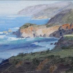 """Big Sur Coastline ● 6"""" x 8"""" ● Oil ● SOLD"""