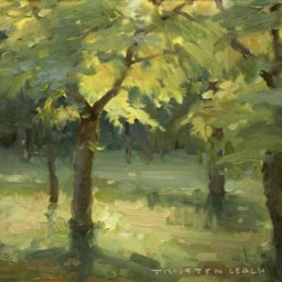 "The Golden Wood ● 12"" x 16"" ● Oil ● $750"